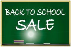 De nuevo a la ilustración de la venta de la escuela Imagen de archivo libre de regalías
