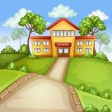 De nuevo a la ilustración de la escuela Imagen de archivo libre de regalías