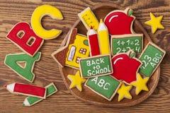 De nuevo a las galletas de la escuela fotos de archivo