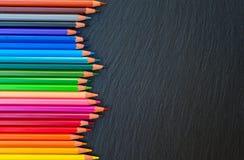 De nuevo a los lápices de la escuela imagen de archivo libre de regalías