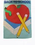 De nuevo a muestra de la bandera de escuela Foto de archivo libre de regalías