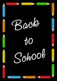 De nuevo a tarjeta de escuela Foto de archivo libre de regalías