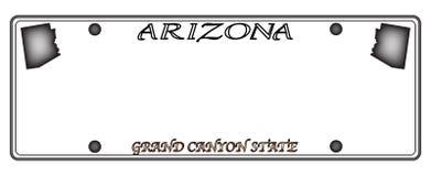 De Nummerplaat van Arizona Stock Afbeelding