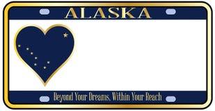De Nummerplaat van de Staat van Alaska Royalty-vrije Stock Afbeeldingen