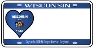De Nummerplaat van de Staat van Wisconsin Stock Afbeeldingen