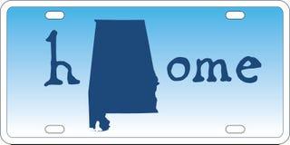 De nummerplaatvector van de staat van Alabama Stock Afbeeldingen