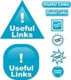 De nuttige Links knopen het pictogram van het Webglas dicht Stock Foto's