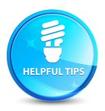 De nuttige uiteinden (bolpictogram) bespatten natuurlijke blauwe ronde knoop stock illustratie
