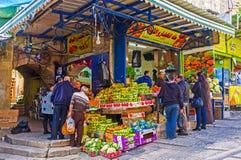 De nya frukterna i marknad Royaltyfria Foton