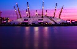 De O2-arena in Londen Stock Afbeelding