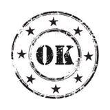 De o.k. abstracte achtergrond van de grunge rubberzegel Royalty-vrije Stock Foto's