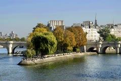 De ?o la Ile de menciona? em Paris Imagem de Stock Royalty Free