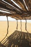 De oase in het midden van de woestijn in Punta Gallinas, Colombia stock fotografie