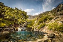 De oase van de berg Royalty-vrije Stock Afbeeldingen