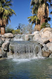 De oase van de Woestijn van de palm Royalty-vrije Stock Foto