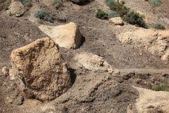 De Oase van Eingedi in het Woestijnlandschap Royalty-vrije Stock Afbeelding