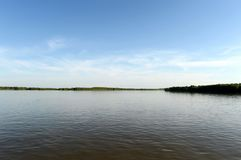 De Ob-Rivier dichtbij de stad van Barnaul Royalty-vrije Stock Fotografie