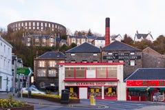 De Oban-Distilleerderij en Coliseum Stock Afbeeldingen
