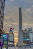 De Obelisk (Gr Obelisco) in Buenos aires Stock Foto