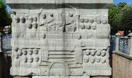 De Obelisk van Theodosius bij de Renbaan Stock Foto