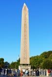 De Obelisk van Theodosius bij Renbaan in Istanboel, Turkije stock foto