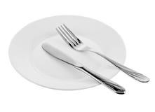 De objecten van de keuken vork en mes Stock Fotografie