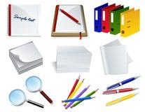 De objecten van het bureau reeks Stock Afbeelding