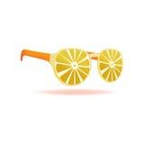 De Objecten van het de Zomerontwerp van de citroenzonnebril Vector stock afbeeldingen