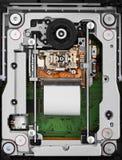 De objectieve lens en asaandrijving van CD-rom Stock Afbeelding