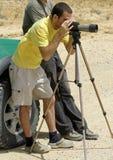 De observateur sede boker woestijn van de vogel Stock Foto