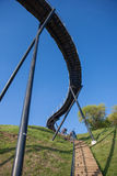 De observatiebrug van het Zarasasmeer Stock Afbeelding