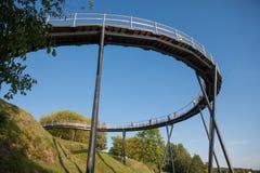 De observatiebrug van het Zarasasmeer Royalty-vrije Stock Afbeelding