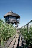 De observatiehuis van het wildreservaat Stock Foto's