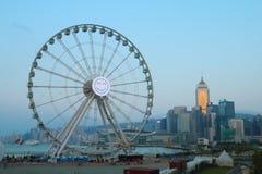 de observatiewiel van Hongkong Stock Afbeeldingen