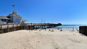 De OC Nieuwpoort pijler in Californië Royalty-vrije Stock Foto's