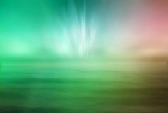 De oceaan en de lichten Stock Afbeelding