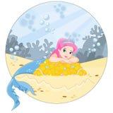 De oceaan en de meermin vector illustratie