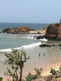 De oceaan en het strand in Senegal in Afrika Royalty-vrije Stock Afbeelding