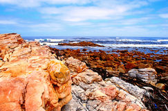 De oceaan van Atlanti, Kaap van Goede Hoop, Zuid-Afrika Stock Afbeeldingen