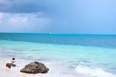 De oceaan van Cancun Stock Afbeeldingen