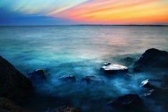 De oceaan van de zonsondergang Royalty-vrije Stock Afbeeldingen