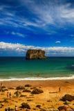 de oceaan van het landschapsstrand in Asturias, Spanje Royalty-vrije Stock Foto