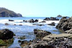 De oceaanbaai San Juan Del Sur Nicaragua van het Strandwater Stock Foto