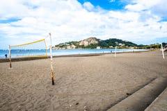 De oceaanbaai San Juan Del Sur Nicaragua van het Strandwater Stock Afbeelding