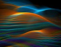 De oceaangolven van de regenboog Stock Afbeeldingen