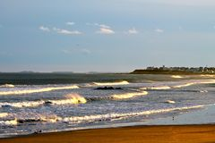 De Oceaangolven van New England Royalty-vrije Stock Afbeelding