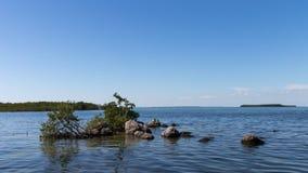 De oceaanmening, Tavernier, sluit Largo, Florida Royalty-vrije Stock Foto