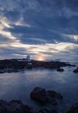 De oceaanmening van de zonsondergang Royalty-vrije Stock Afbeeldingen