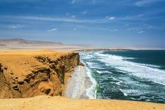 De Oceaanmening van het woestijnstrand stock foto