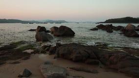 De oceaantijdspanne van de Meningstijd Vietnam stock video